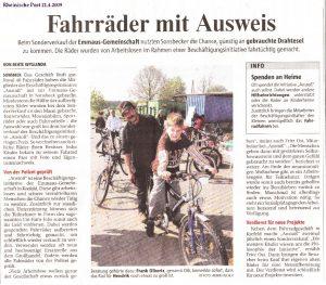 Rheinische Post 21.04.2009