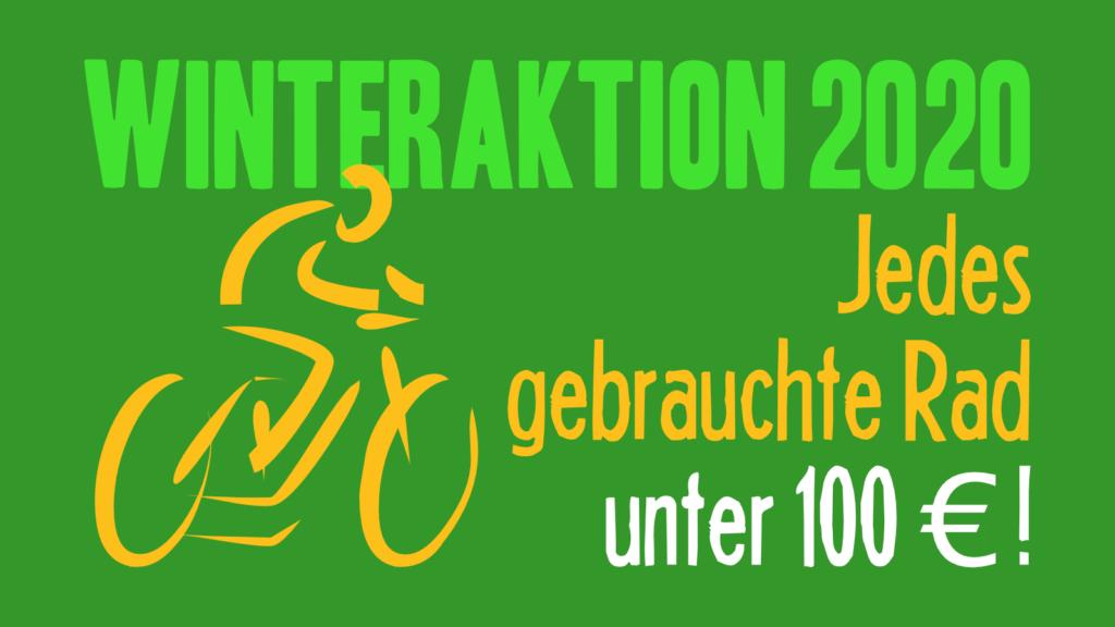 Winteraktion 2020 - Jedes gebrauchte Rad unter 100 Euro